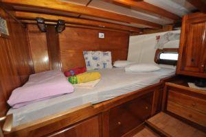 Cabine double à bord de la goélette Polo - croisière en Croatie avec Bemex Tours
