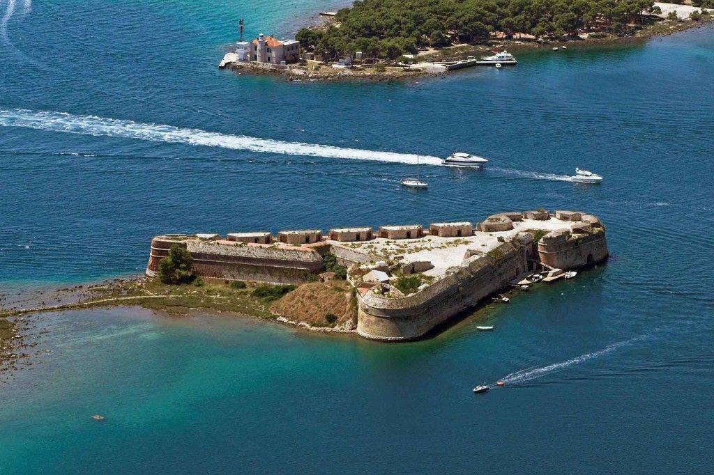 Sibenik Croatie forteresse St Nikolas