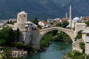 Mostar Bosnie-Herzégovine. Vieux pont de Stari Most