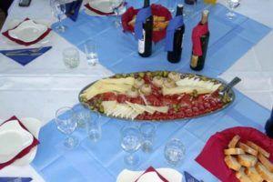 croisiere en Croatie en goelette Gideon - déjeuner à bord avec Bemex Tours