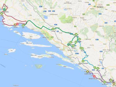 A03. Autotour Carrefour Balkanique Croatie-Bosnie-Monténégro